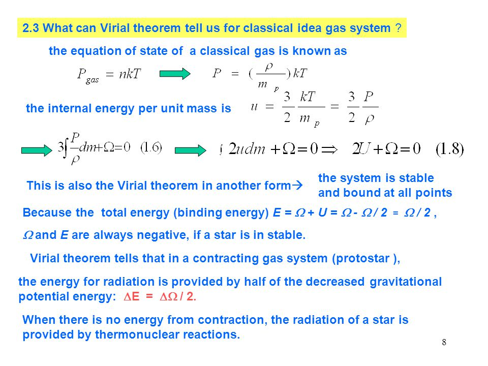 2.3 What can Virial theorem tell us for classical idea gas system