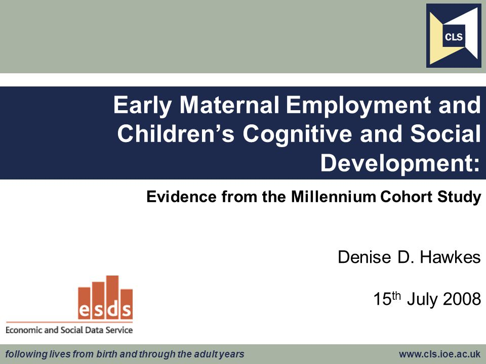 Evidence from the Millennium Cohort Study