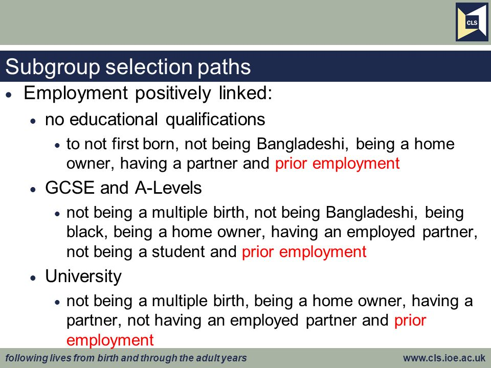 Subgroup selection paths
