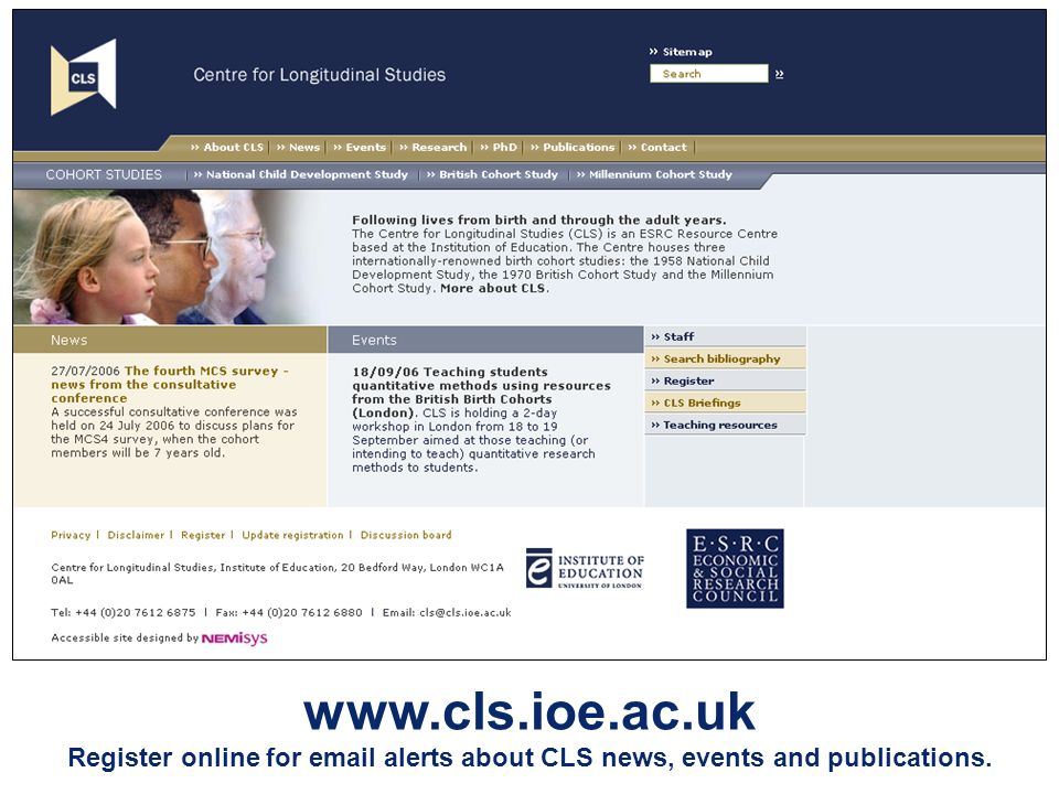 Register online for  alerts about CLS news, events and publications.