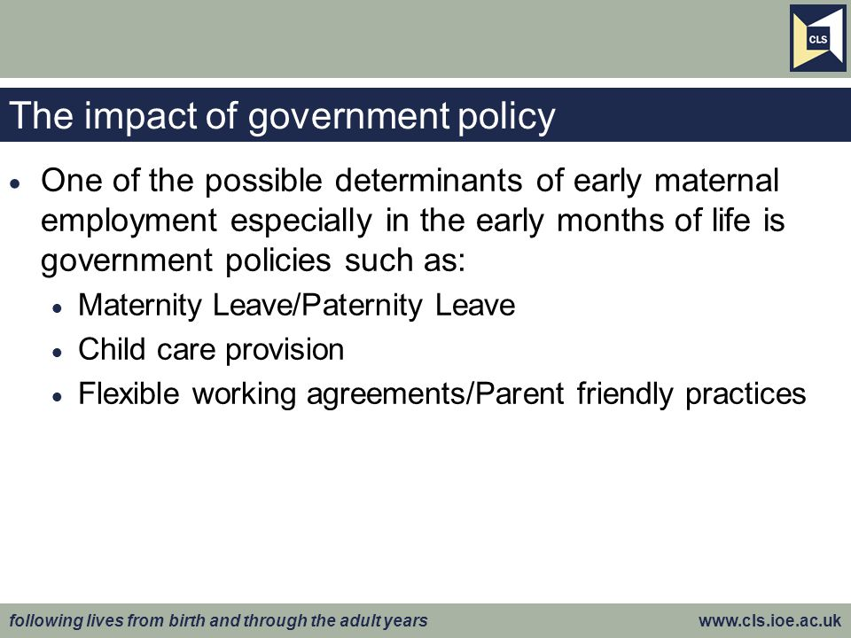 The impact of government policy