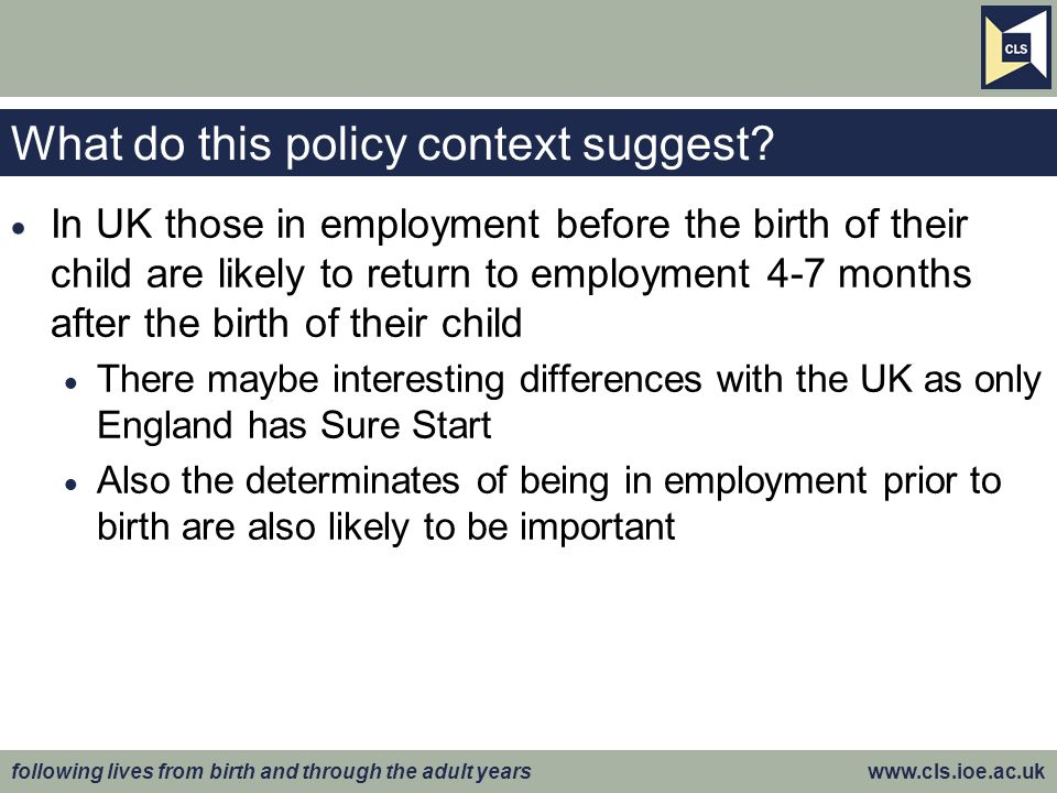 What do this policy context suggest