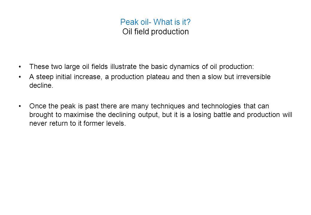 Peak oil- What is it Oil field production