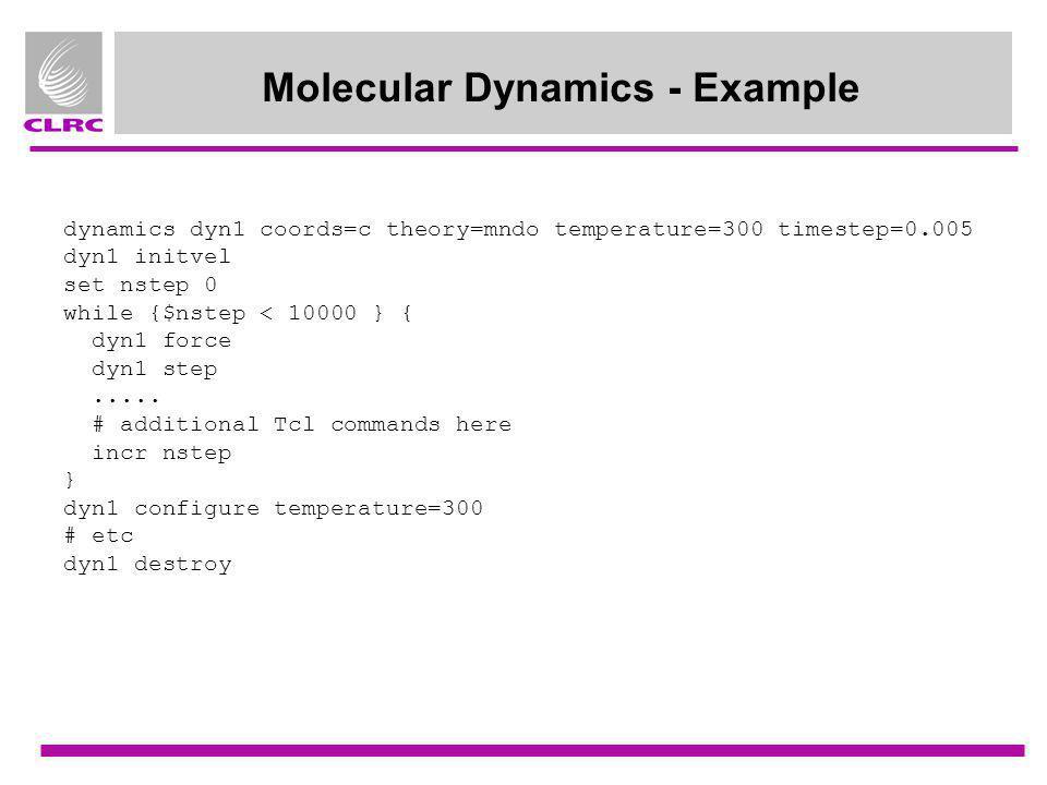 Molecular Dynamics - Example