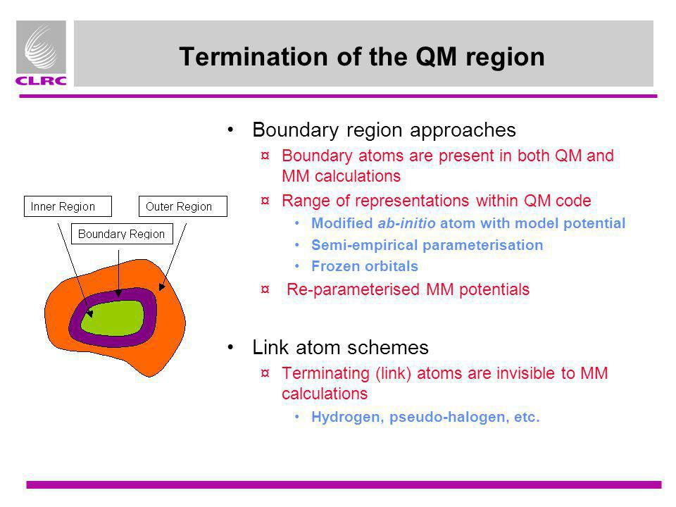 Termination of the QM region