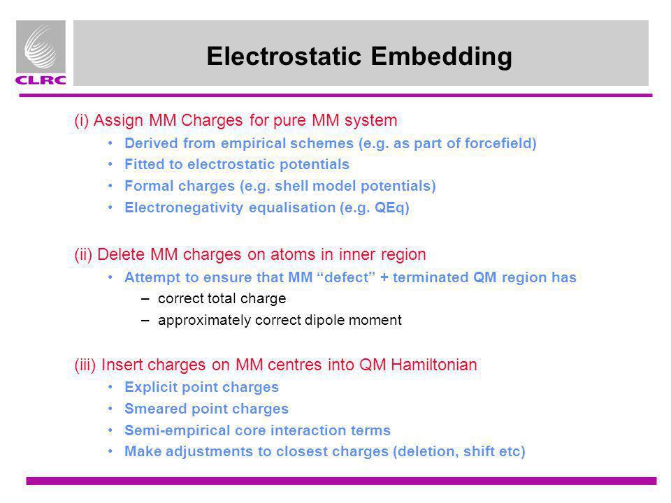 Electrostatic Embedding