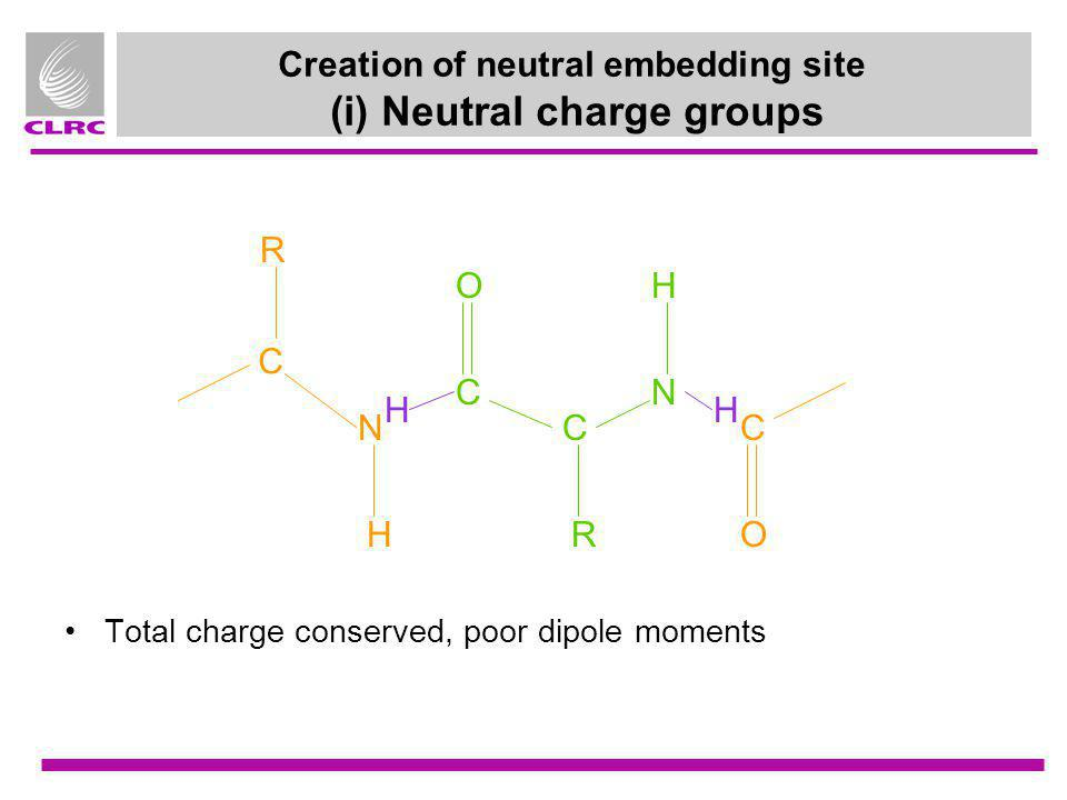 Creation of neutral embedding site (i) Neutral charge groups