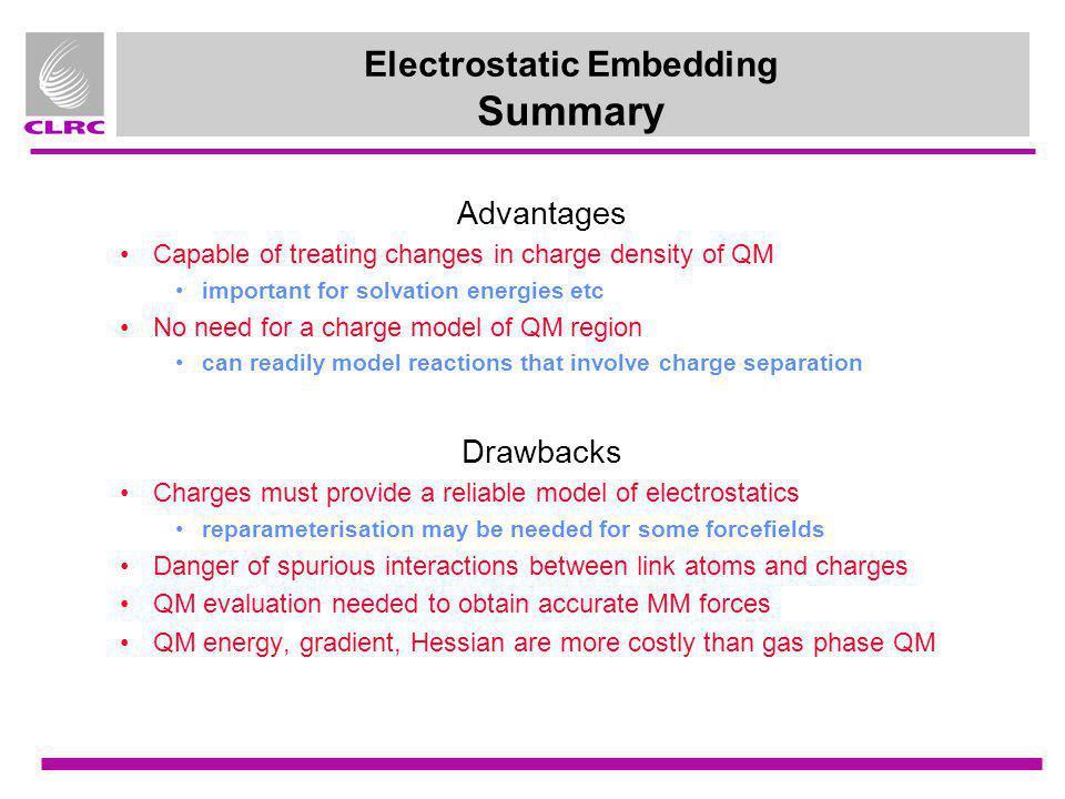 Electrostatic Embedding Summary