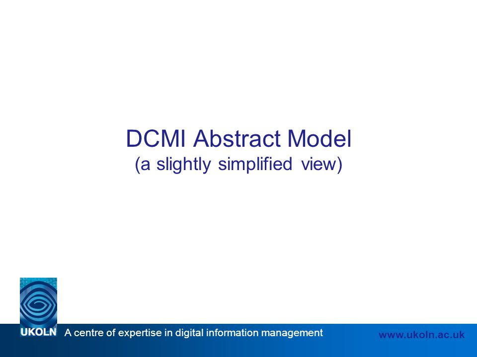 DCMI Abstract Model (a slightly simplified view)