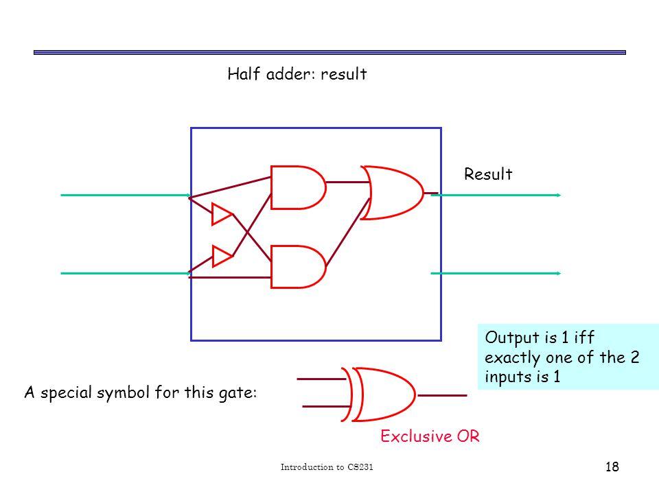 XOR Introduction to CS231