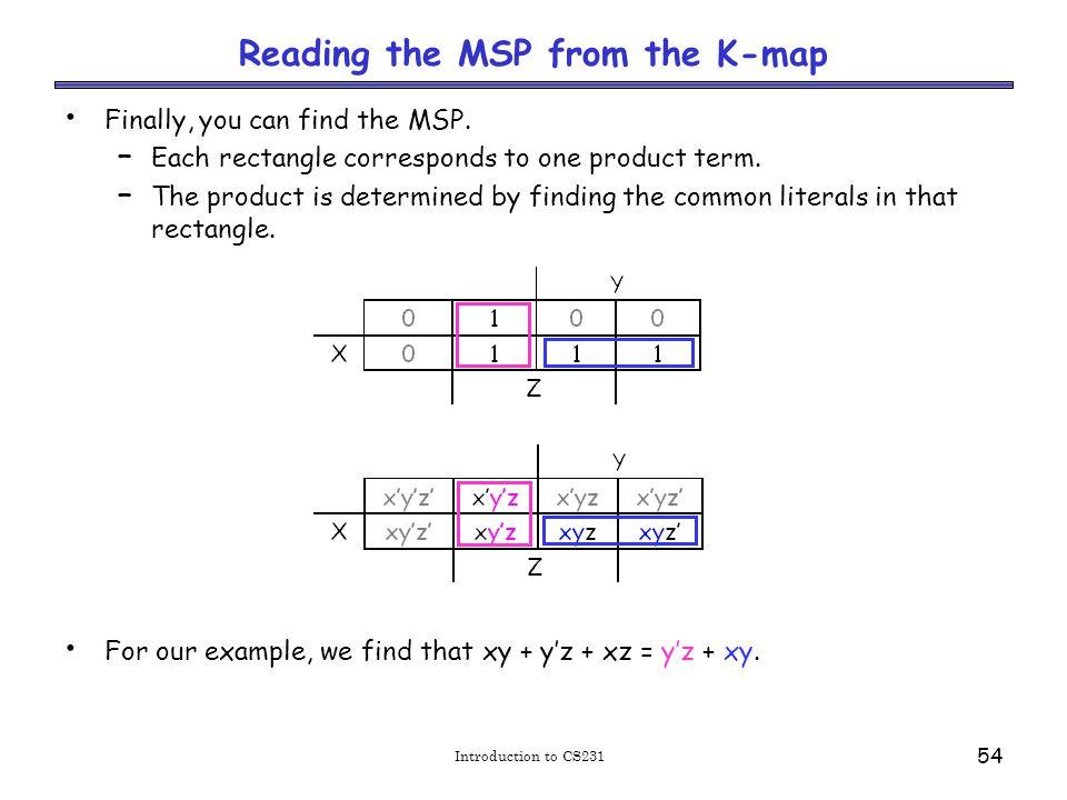 Practice K-map 1 Simplify the sum of minterms m1 + m3 + m5 + m6.