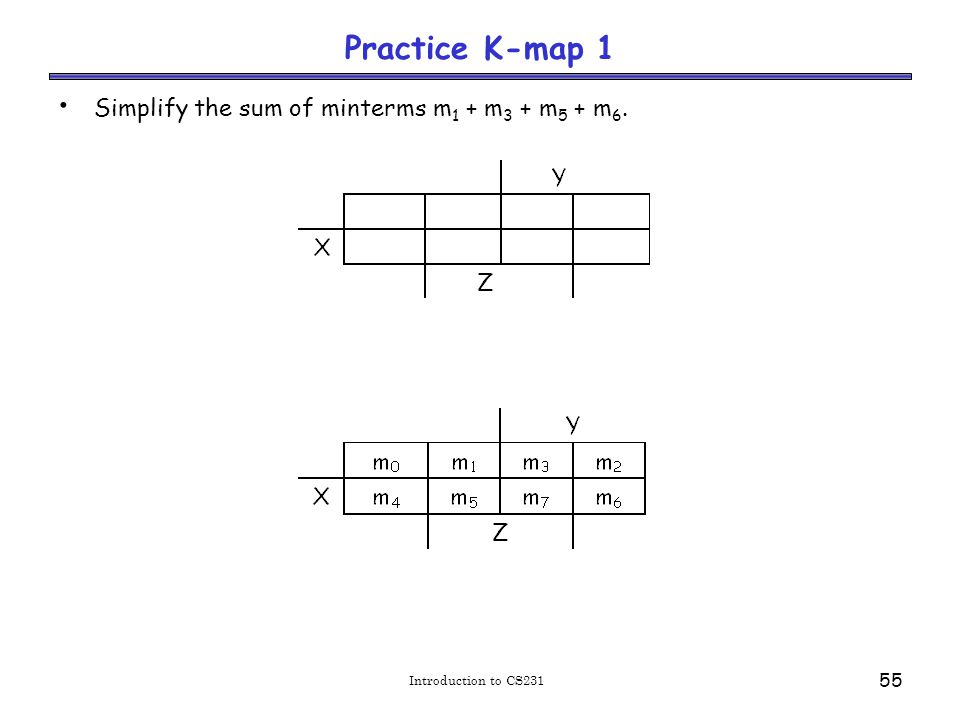 Solutions for practice K-map 1