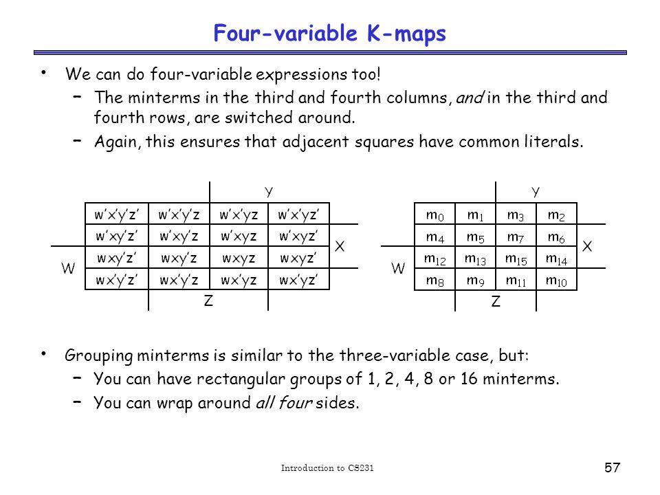 Example: Simplify m0+m2+m5+m8+m10+m13