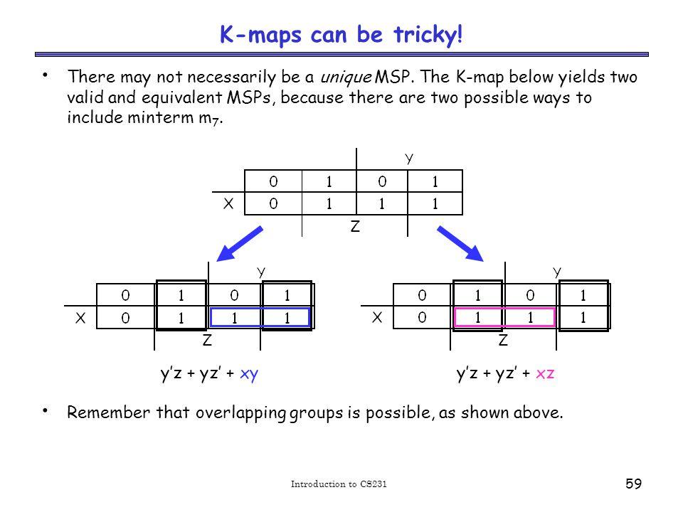 Limitations of K(arnaugh) -maps