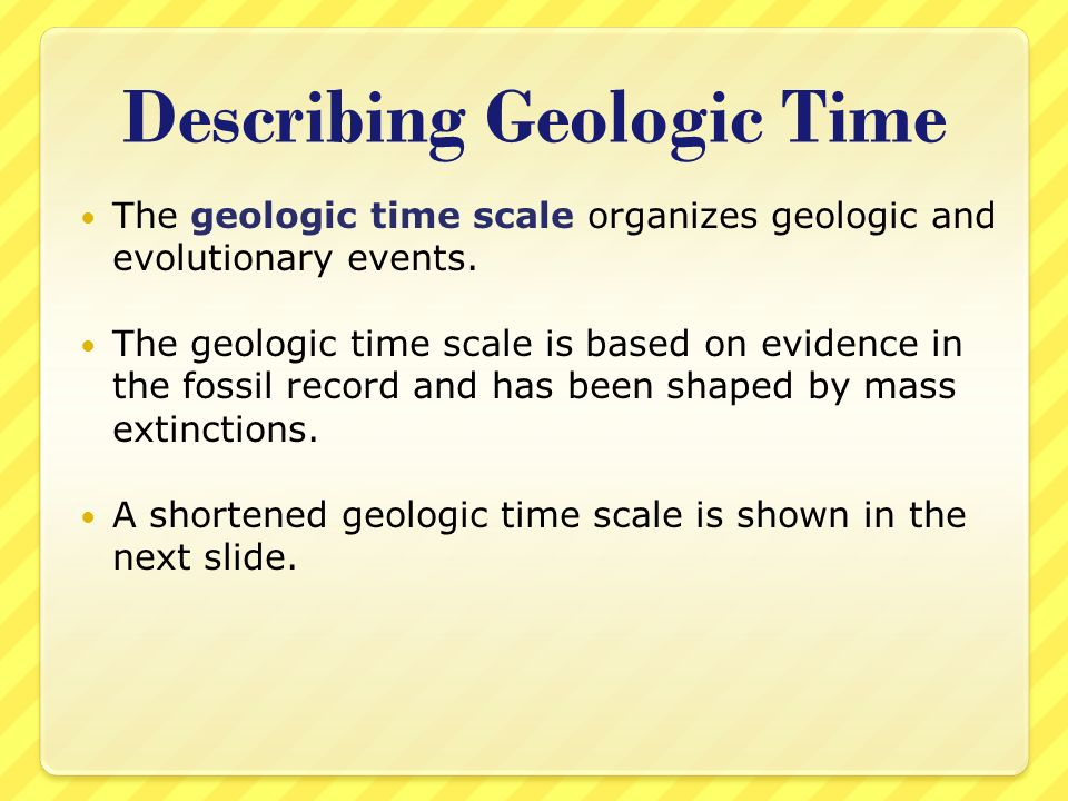Describing Geologic Time