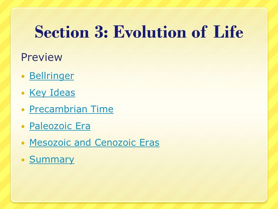 Section 3: Evolution of Life