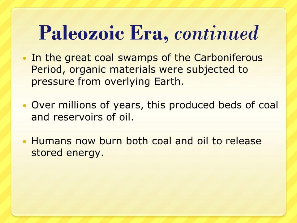 Paleozoic Era, continued