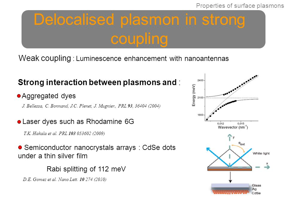 Delocalised plasmon in strong coupling