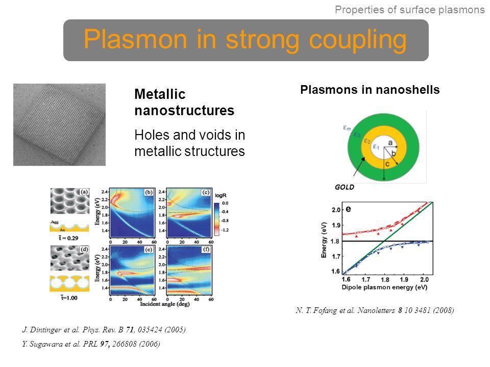 Plasmon in strong coupling