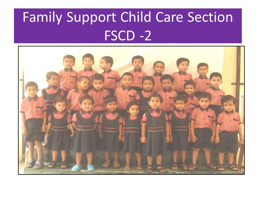 Family Support Child Care Section FSCD -2