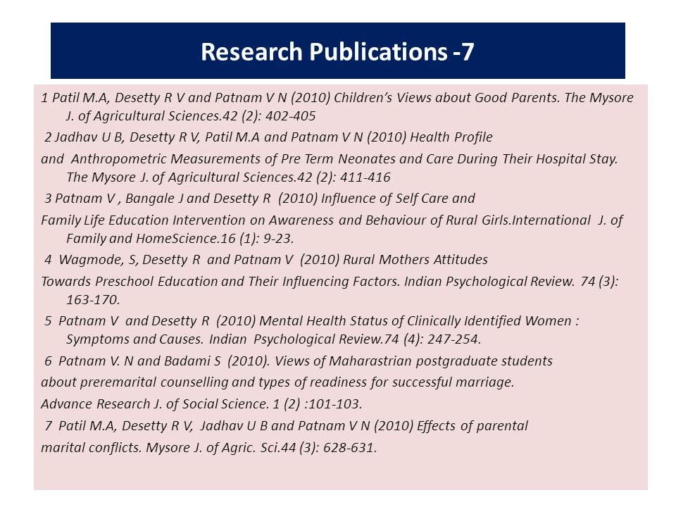 Research Publications -7