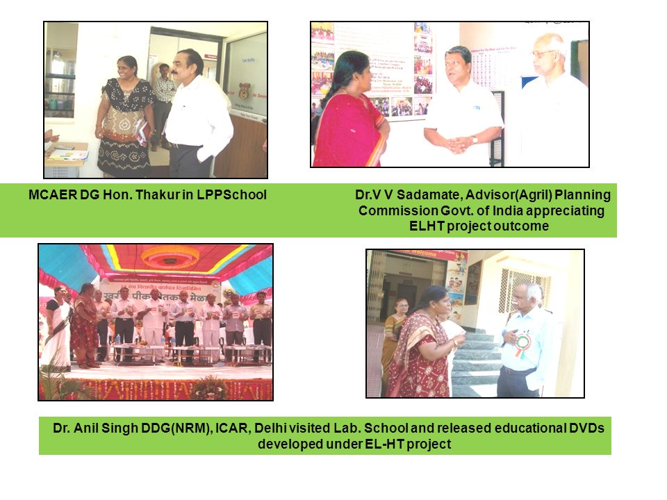 MCAER DG Hon. Thakur in LPPSchool Dr