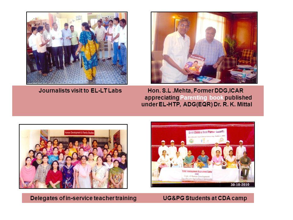 Journalists visit to EL-LT Labs Hon. S.L .Mehta, Former DDG,ICAR