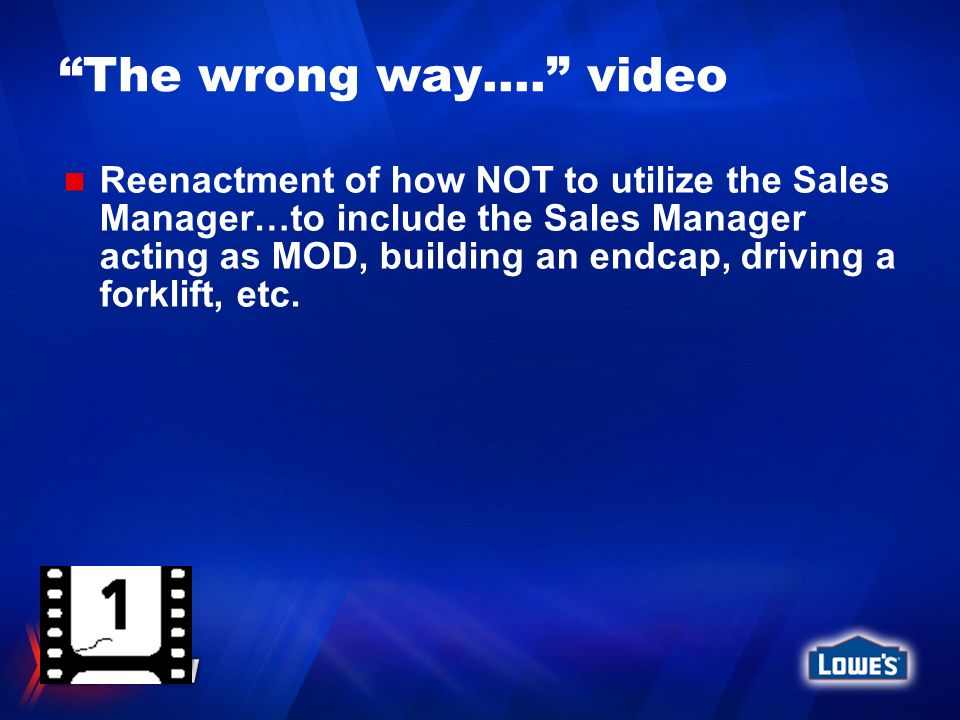 The wrong way…. video