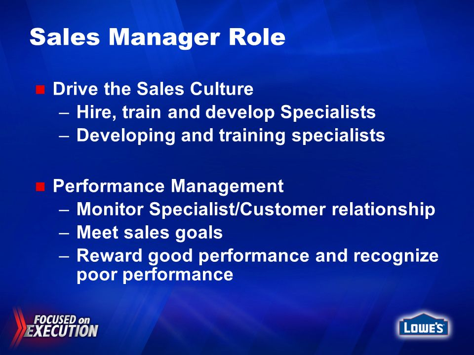 Sales Manager Role Drive the Sales Culture