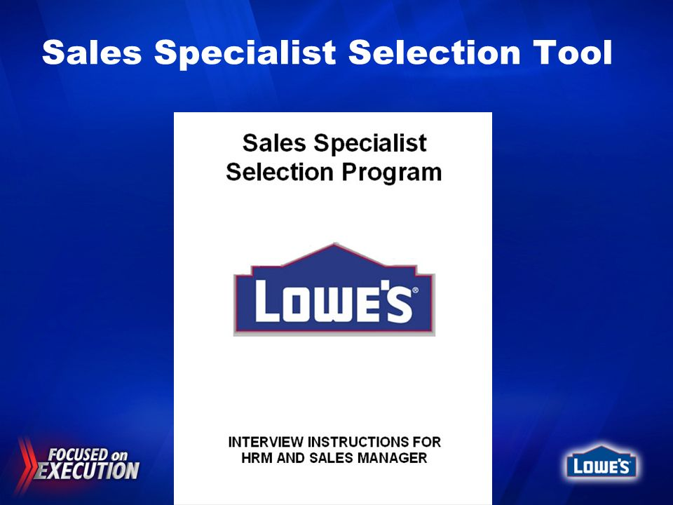 Sales Specialist Selection Tool