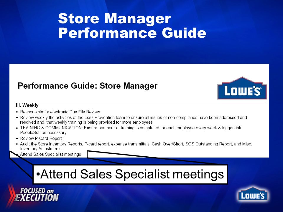 Store Manager Performance Guide