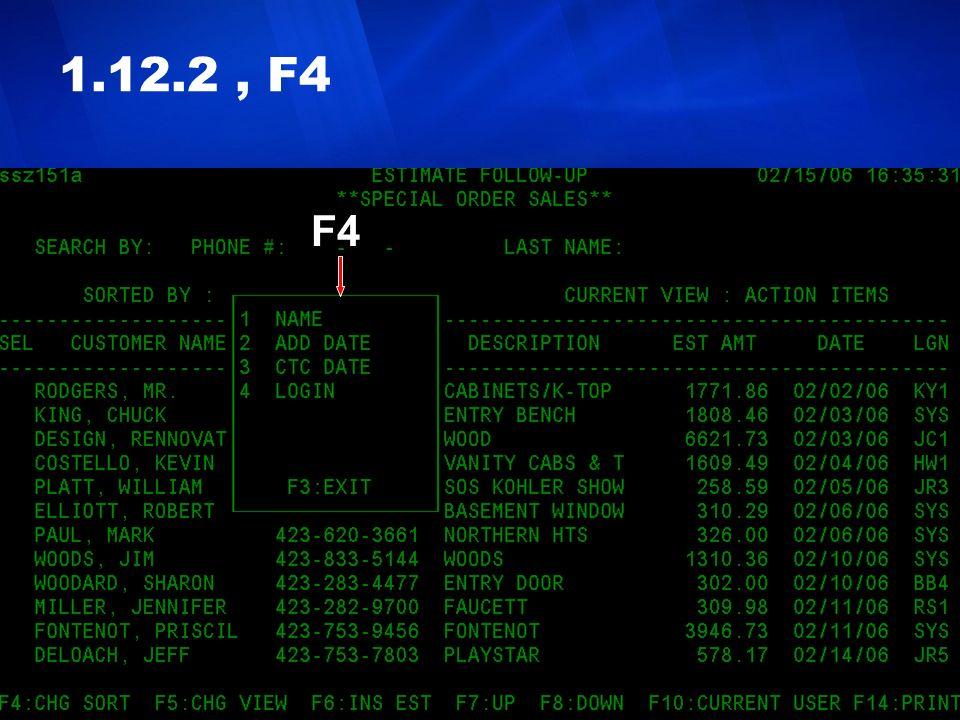 1.12.2 , F4 F4.