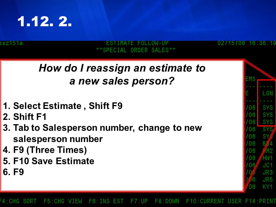 How do I reassign an estimate to
