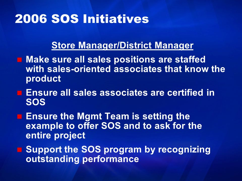 Store Manager/District Manager