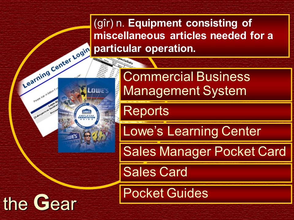 the Gear Commercial Business Management System Reports