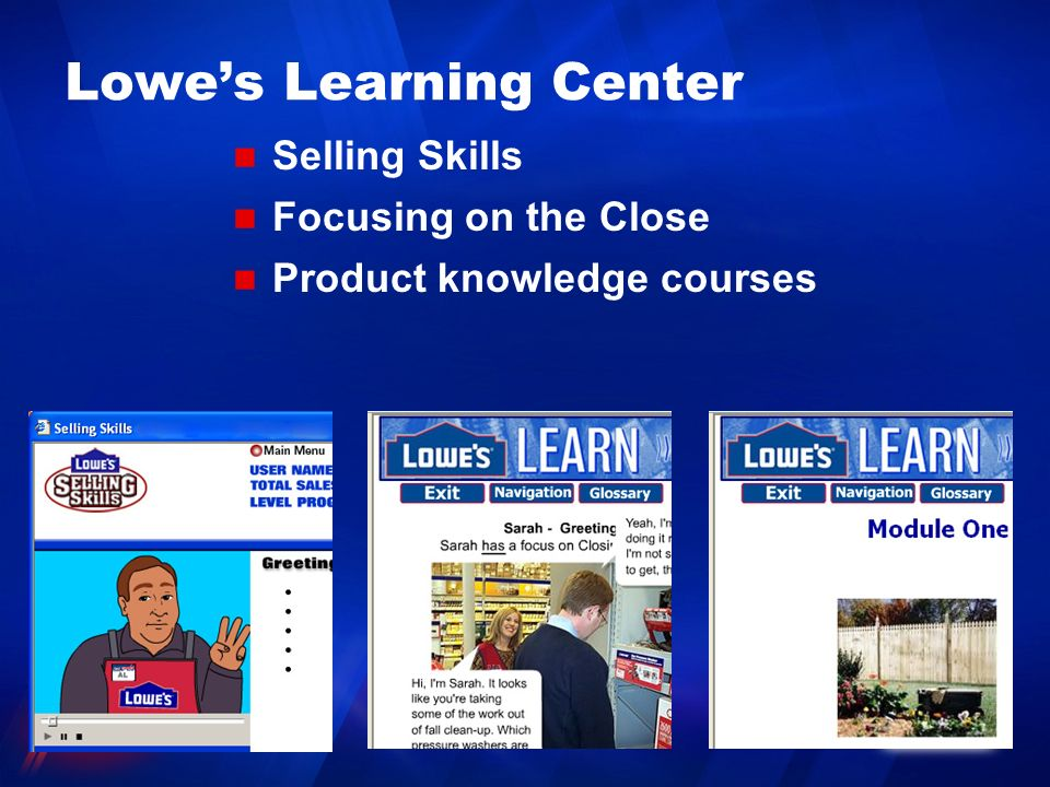 Lowe's Learning Center