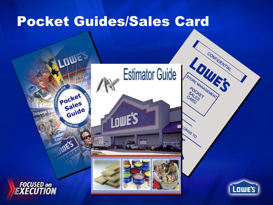 Pocket Guides/Sales Card