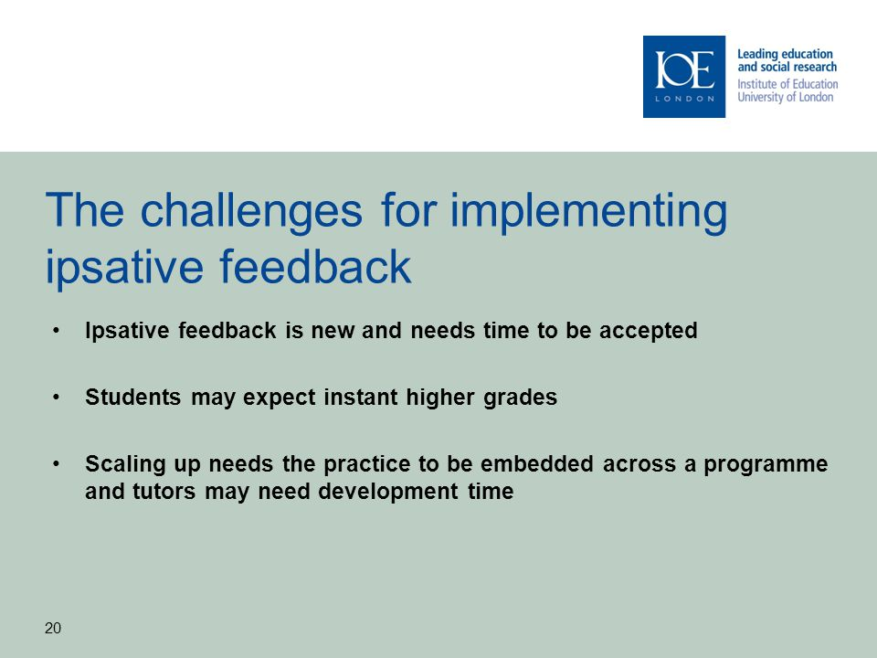 The challenges for implementing ipsative feedback