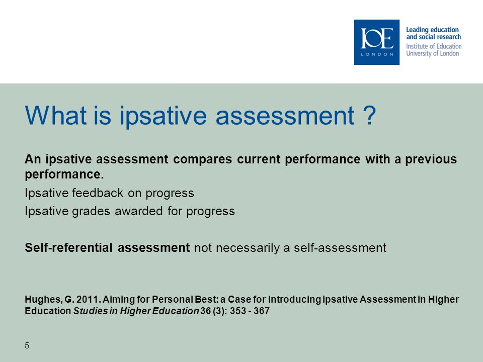 What is ipsative assessment