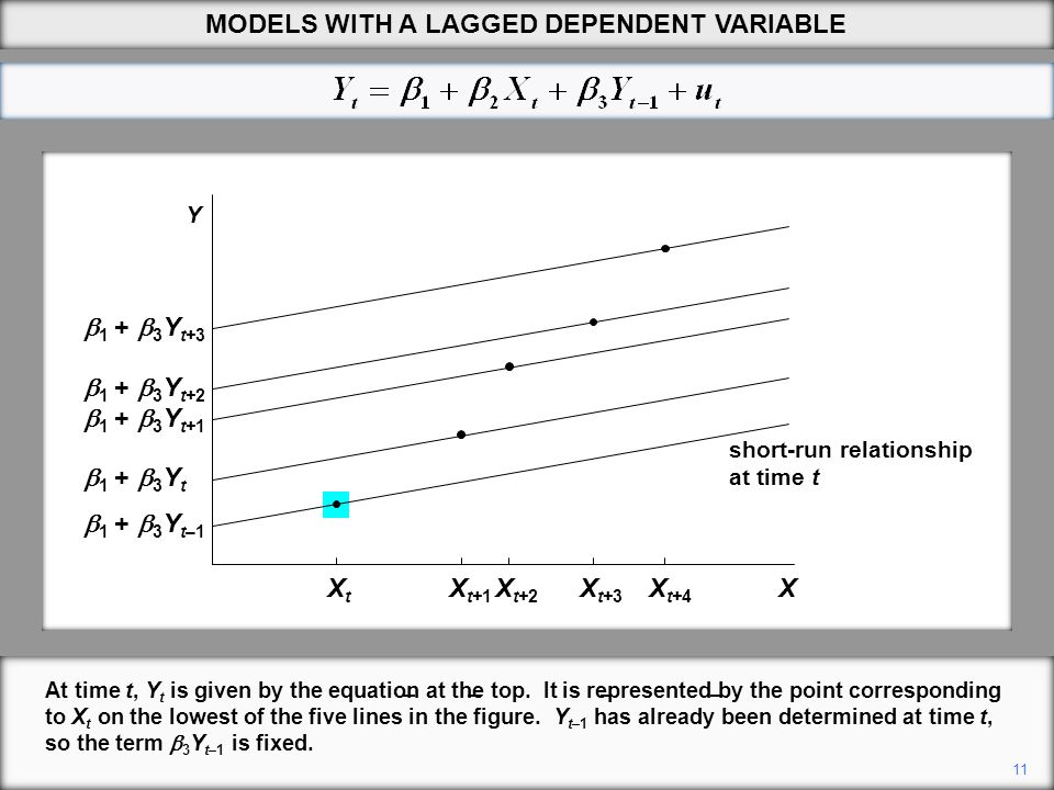 MODELS WITH A LAGGED DEPENDENT VARIABLE
