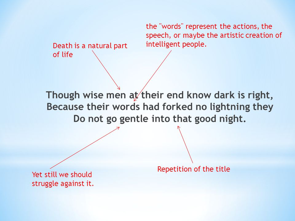 the words represent the actions, the speech, or maybe the artistic creation of intelligent people.