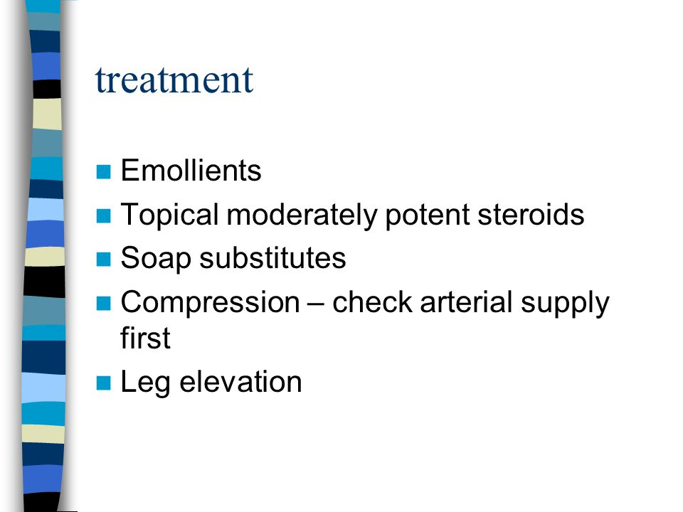 treatment Emollients Topical moderately potent steroids