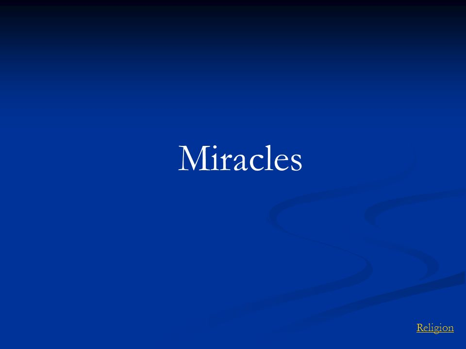 Miracles Religion
