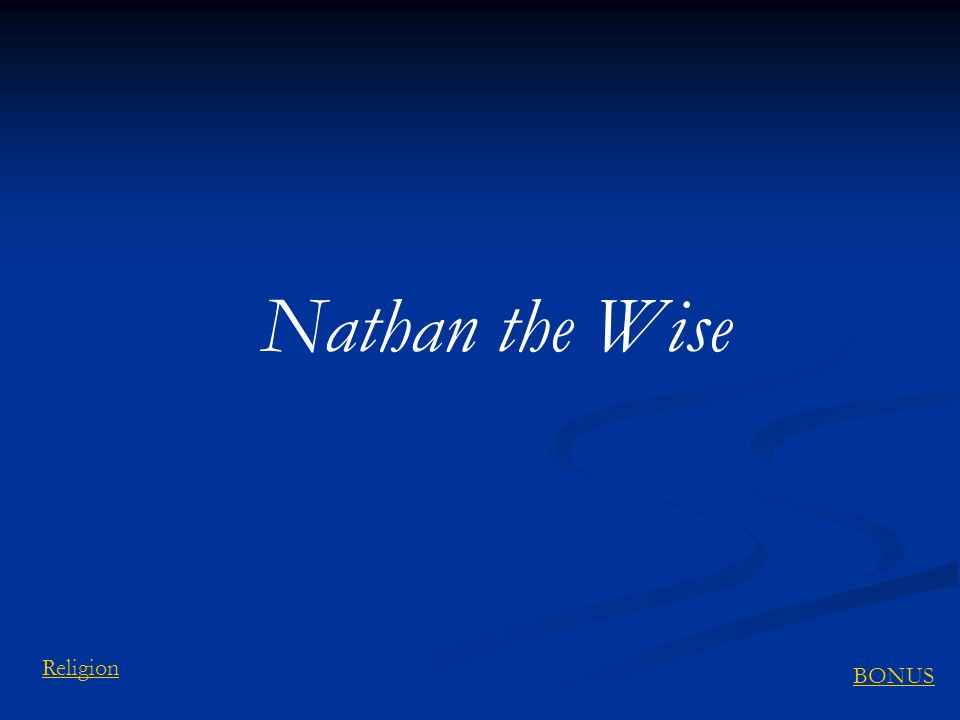 Nathan the Wise Religion BONUS