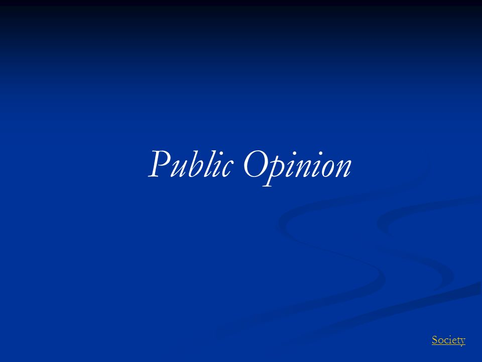 Public Opinion Society