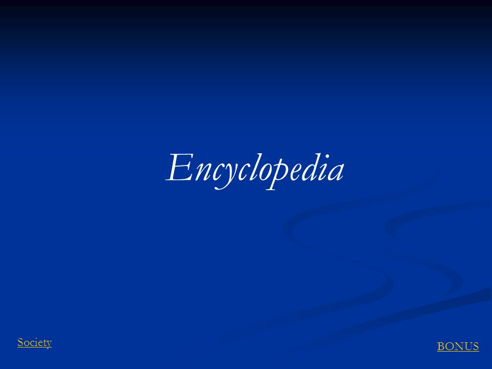 Encyclopedia Society BONUS