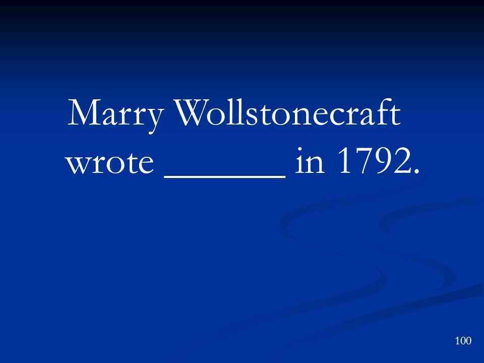 Marry Wollstonecraft wrote ______ in 1792.