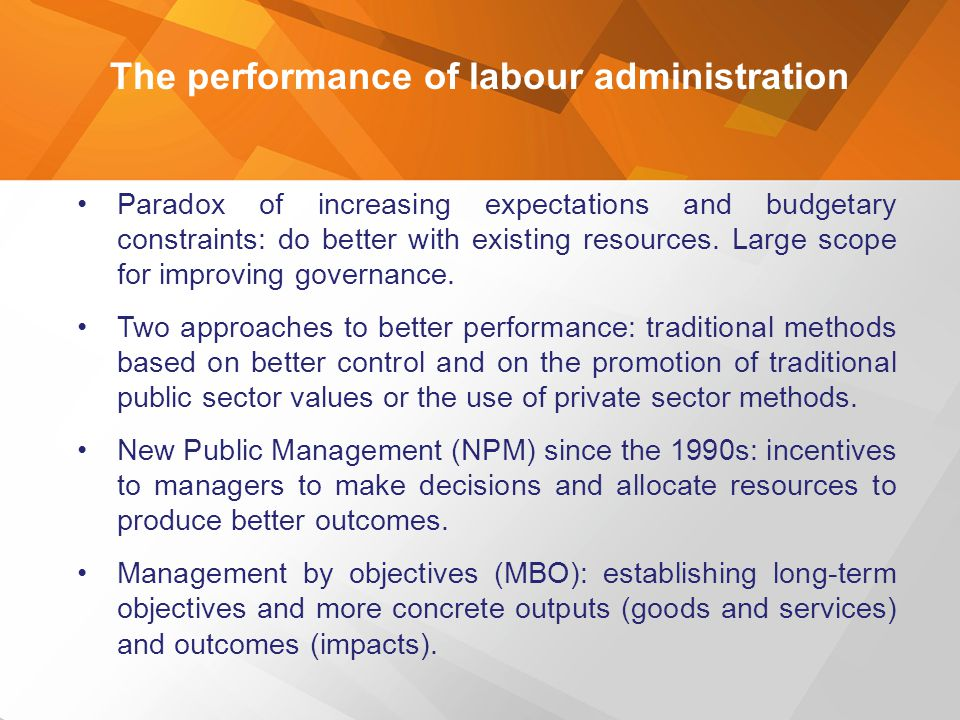 The performance of labour administration