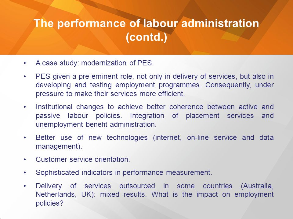 The performance of labour administration (contd.)