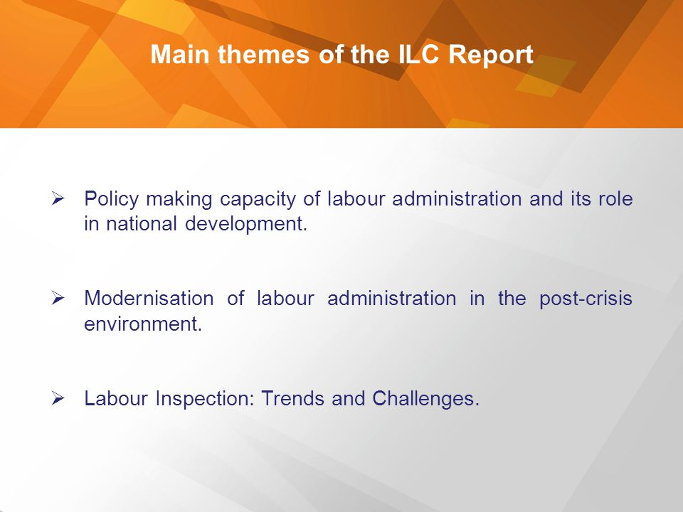 Main themes of the ILC Report